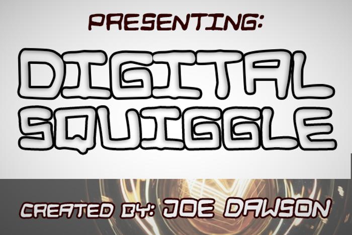 Digital Squiggle Font poster