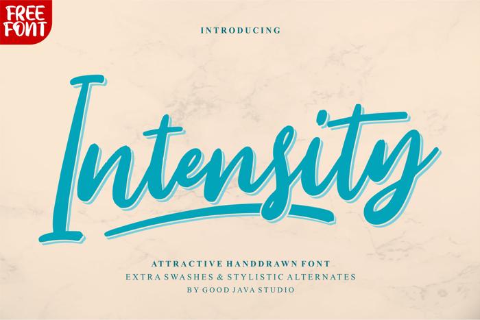 Intensity Font poster
