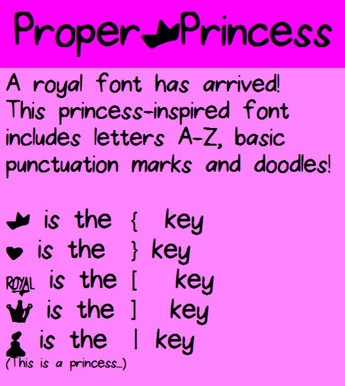 ProperPrincess Font