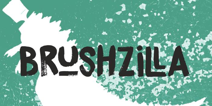 DK Brushzilla Font poster