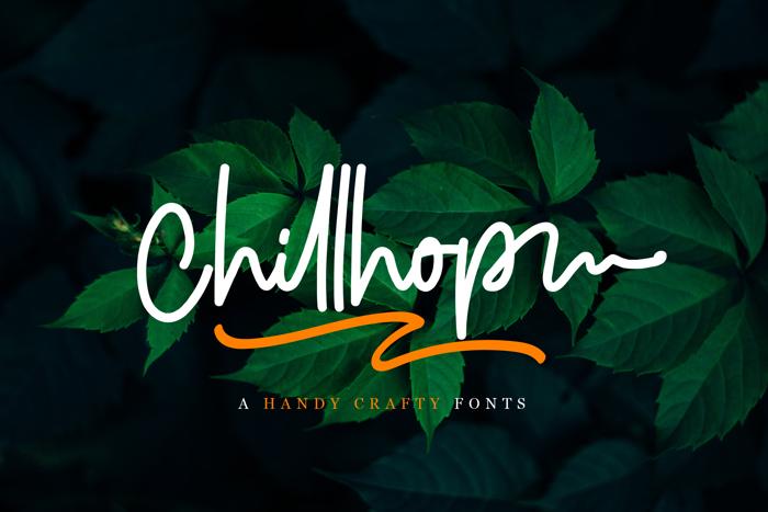 Chillhop Font poster