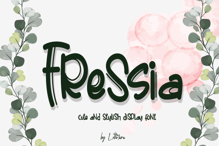 Fressia Font poster