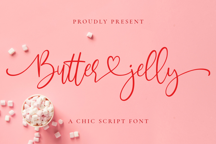 Butter Jelly Font poster