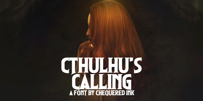 Cthulhu's Calling Font poster
