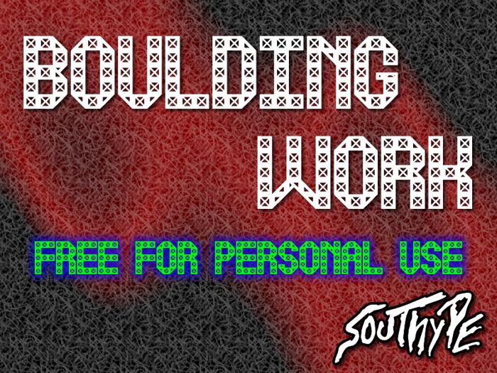 Boulding Work St Font poster