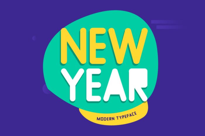 New Year Font poster