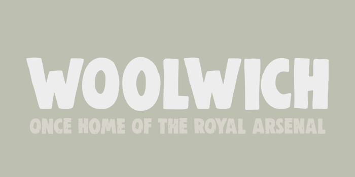 DK Woolwich Font poster