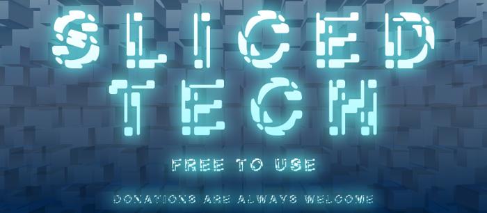 Sliced-Tech Font poster