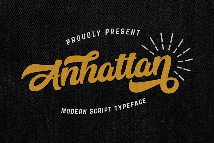 Anhattan Font poster