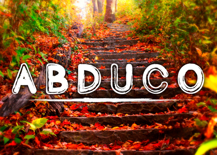 Abduco Font poster