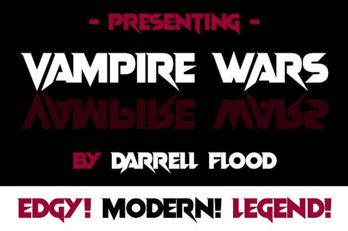 Vampire Wars Font poster