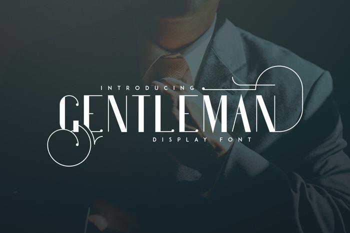 Gentleman Font poster