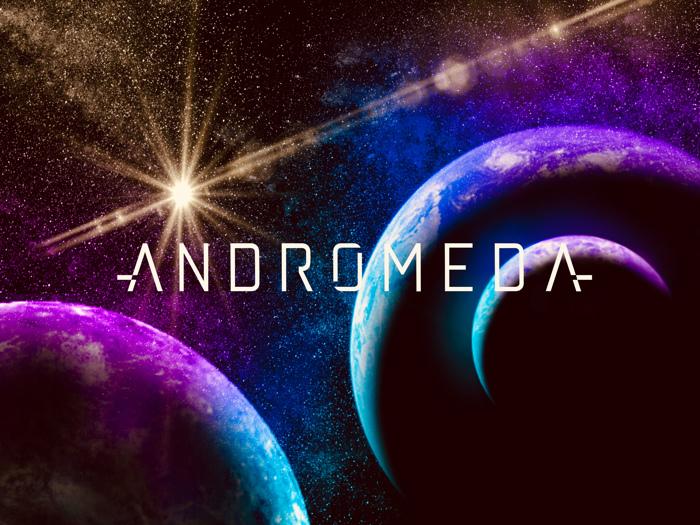 andromeda Font poster