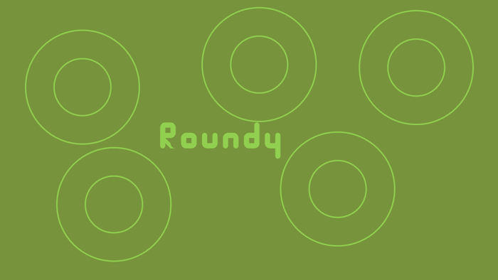 Roundy Font poster