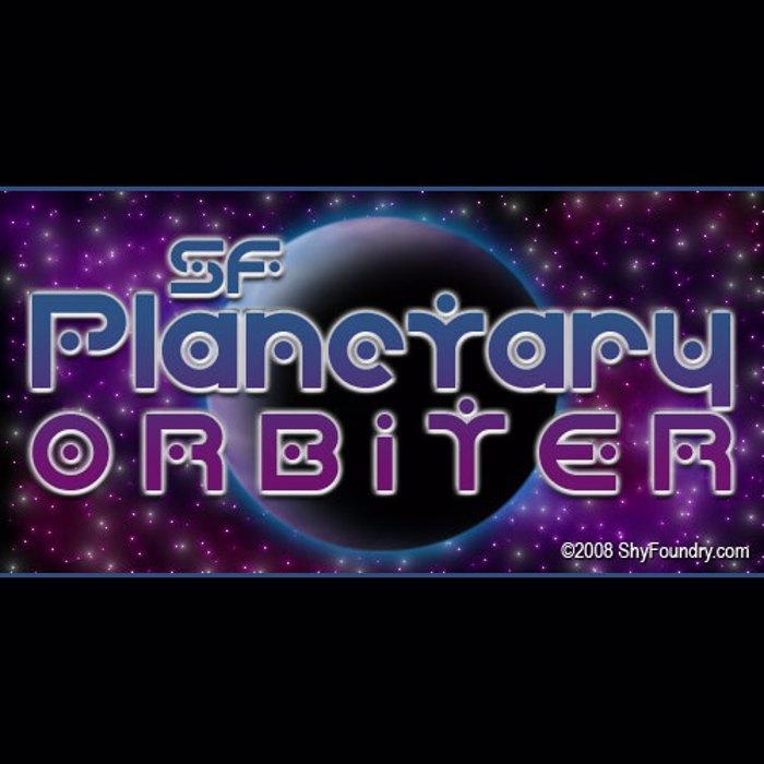 SF Planetary Orbiter Font poster
