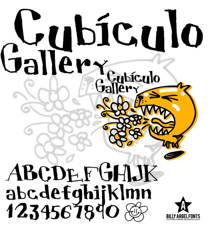 CUBICULOGALLERY SERIF Font poster