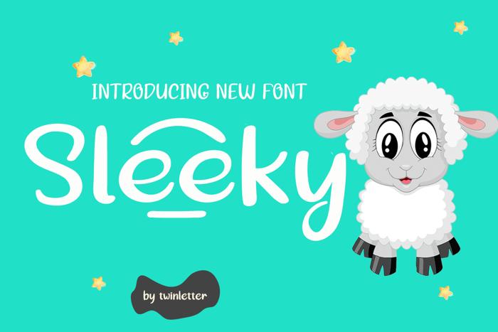 Sleeky Font poster