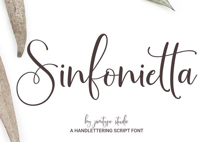 Sinfonietta Font poster