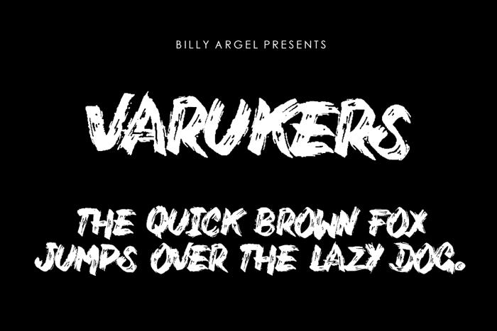 Varukers Font poster