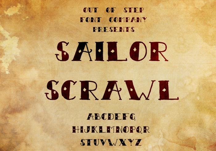 Sailor Scrawl Font poster