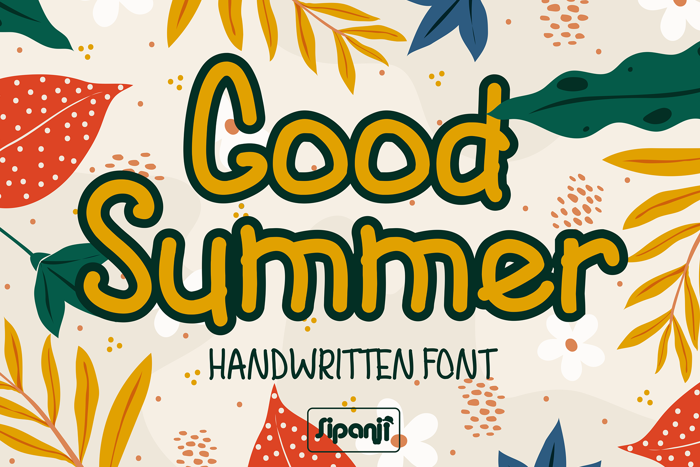 Good Summer Font poster