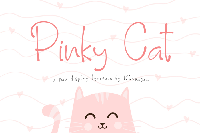 Pinky Cat Font poster