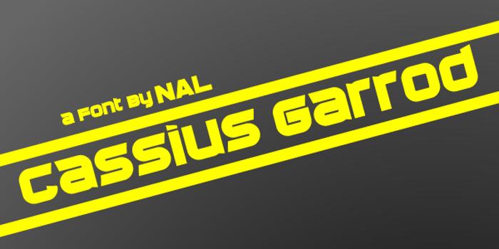 Cassius Garrod Font poster