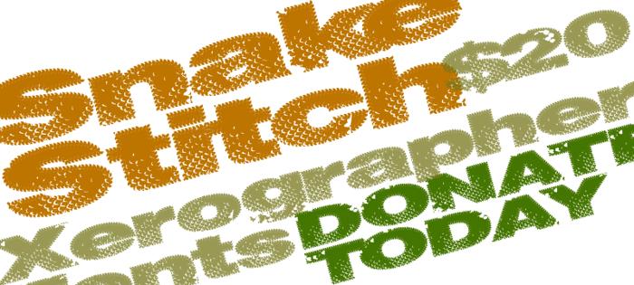 SnakeStitch Font poster