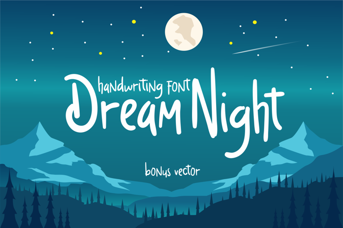 Dream Night Font poster