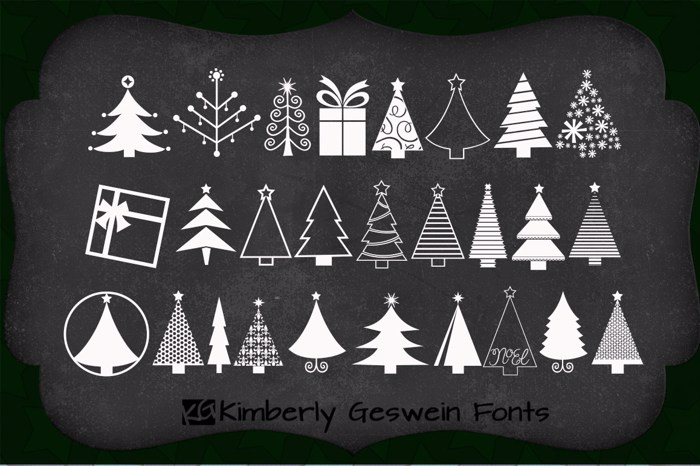 KGChristmasTrees Font poster