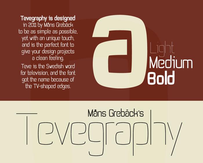 Tevegraphy Font poster