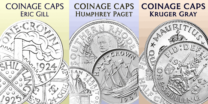 Coinage Caps Kruger Gray Font poster