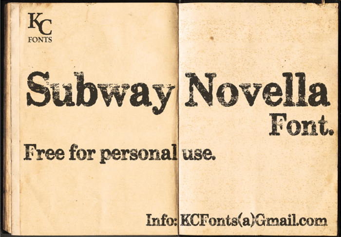 Subway Novella Font poster