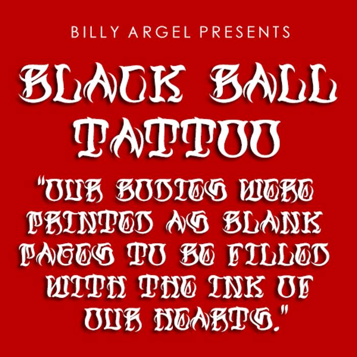 Black Ball Tattoo Font poster