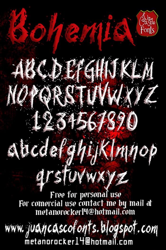 Bohemia Font poster