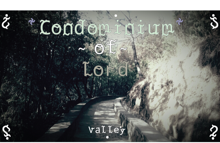 Condominium of Lord Font poster