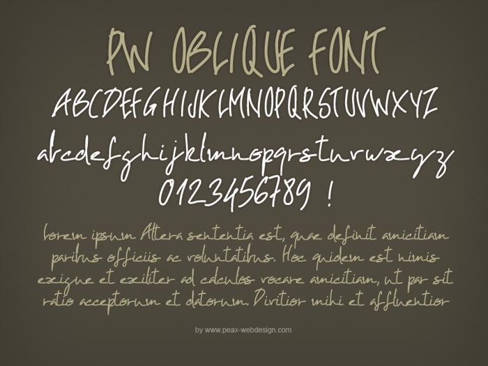 PWOblique Font