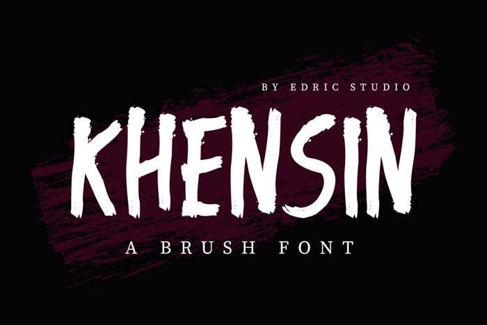 Khensin Font poster