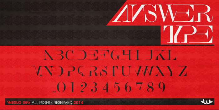 Answer Type Font poster