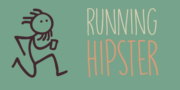 DK Running Hipster Font poster