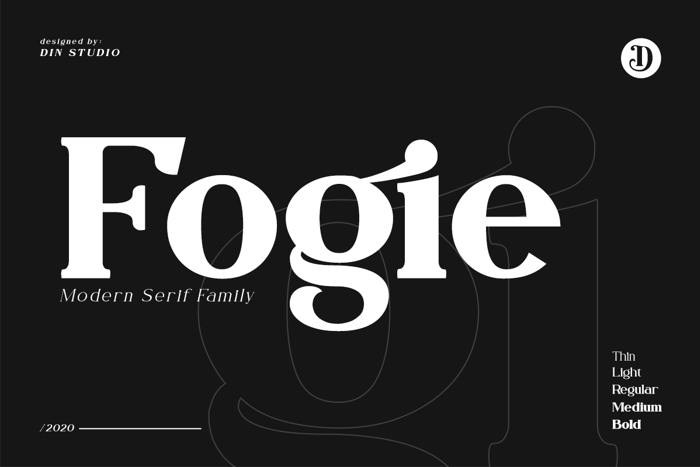 Fogie Font poster