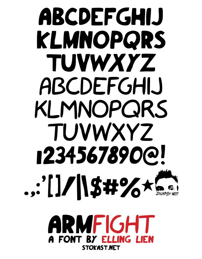 armfight Font poster
