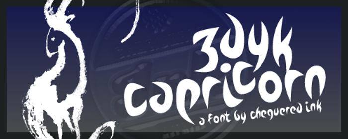Zdyk Capricorn Font poster
