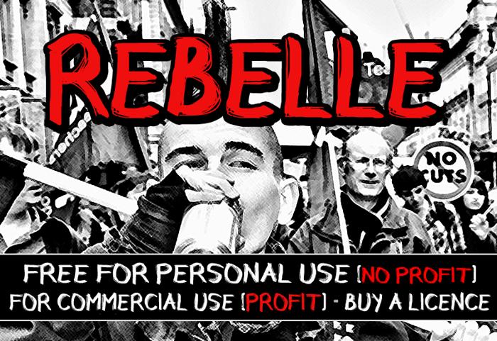 CF Rebelle Font poster