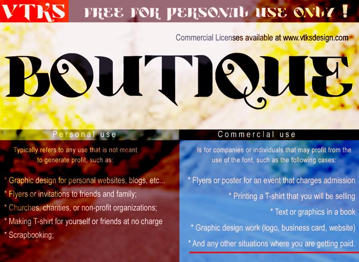 Vtks Boutique Font poster