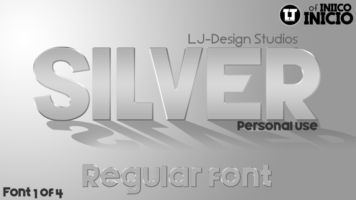 Silver Forte Font poster