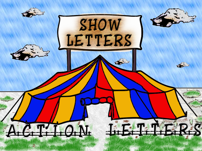 ShowLetters Font poster