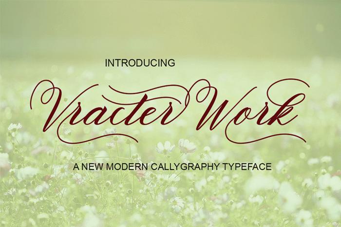 VracterWork Font poster