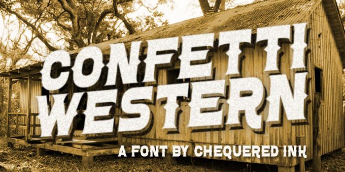 Confetti Western Font poster