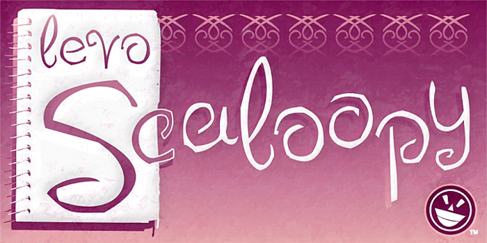 LEVO Scaloopy Font poster